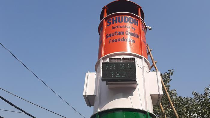 Luftreiniger in Neu Delhi installliert