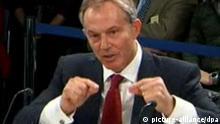Tony Blair vor Untersuchungsausschuss