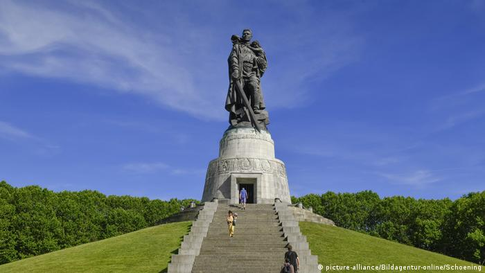 The Soviet War Memorial in Berlin was built to commemorate the 80,000 Soviet soldiers who died in WWII.