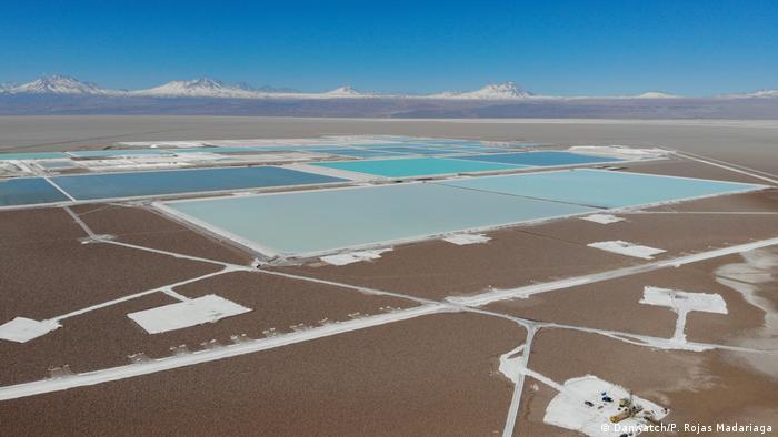 Explotación de litio en el desierto de Atacama, en Chile.