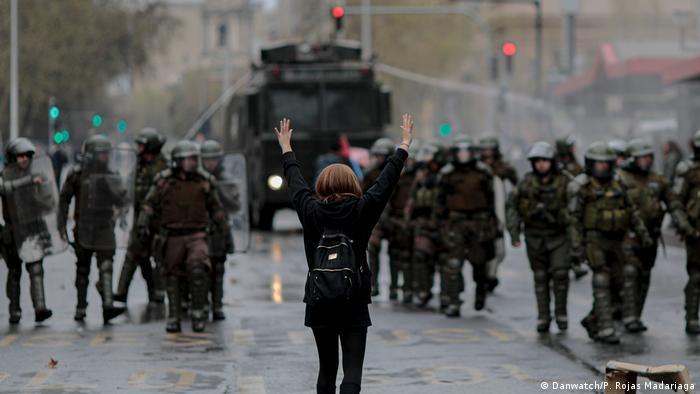 Chile Protest in Santiago