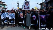 Indien Kaschmir Magam Proteste gegen USA