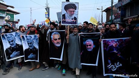 Indien Kaschmir Magam Proteste gegen USA (AFP/T. Mustafa)