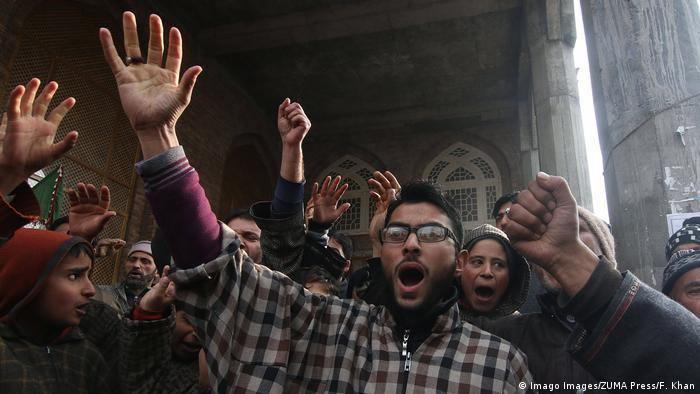 Indien Jammu und Kashmir | Proteste gegen Amerika nach Dronenangriff auf Kassem Soleimani