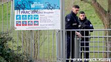 Pariser Polizei sicher Parkgelände in Villejuif nach einer Messerattake