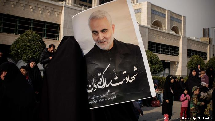 Protest in Iran After US Airstrike Kills Iranian Commander (picture-alliance/dpa/R. Fouladi)