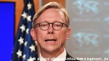 Brian Hook ruft die Gründung der Iran-Aktionsgruppe aus