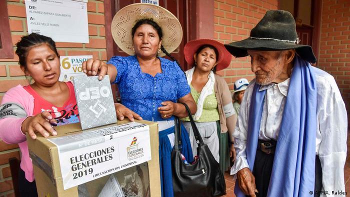 Bolivien Wahlen in Villa 14 de Septiembre (AFP/A. Raldes)
