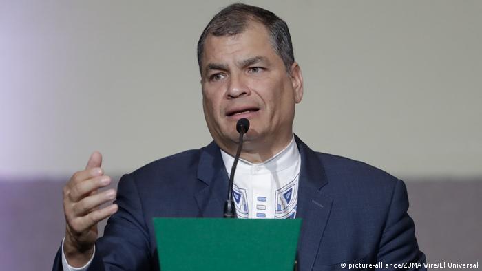 Mexiko Ecuadors Ex-Präsident Rafael Correa in Mexiko-Stadt (picture-alliance/ZUMA Wire/El Universal)