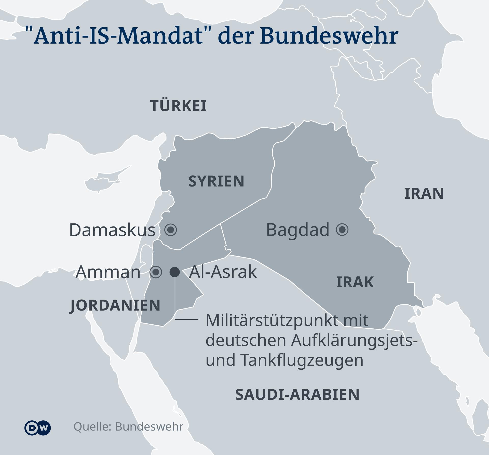 Konflikte: Bundeswehr hält an Verlegung von Soldaten in den Irak fest
