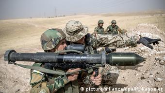 Bundeswehr im Irak (picture-alliance/dpa/M. Kappeler)
