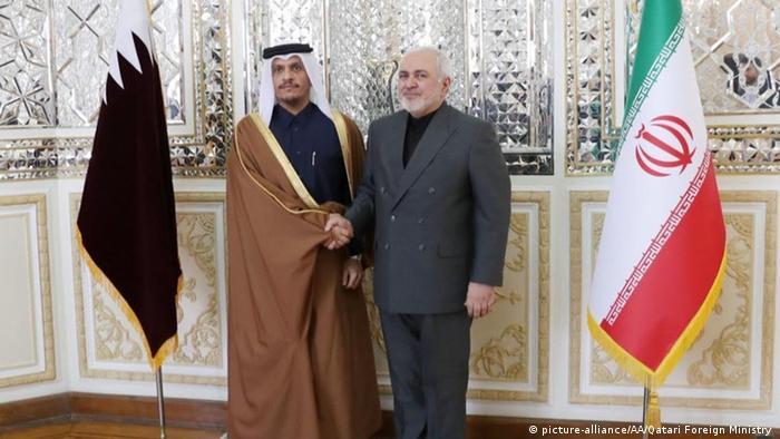 دیدار وزرای خارجه ایران و قطر، چهارم ژانویه ۲۰۲۰، تهران