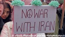 USA New York | Protest gegen US-Krieg mit dem Iran