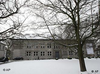 Canisius school in Berlin with snow-covered roof