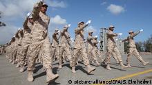 Libyen Militärparade bei der Abschlussfeier neuer Grenztruppen in Tripoli