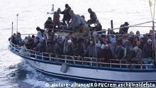 Italien Mittelmeer Tunesische Flüchtlinge