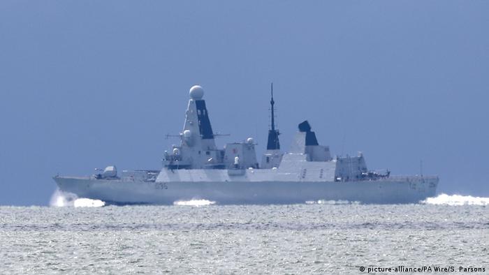 UK HMS Defender.
