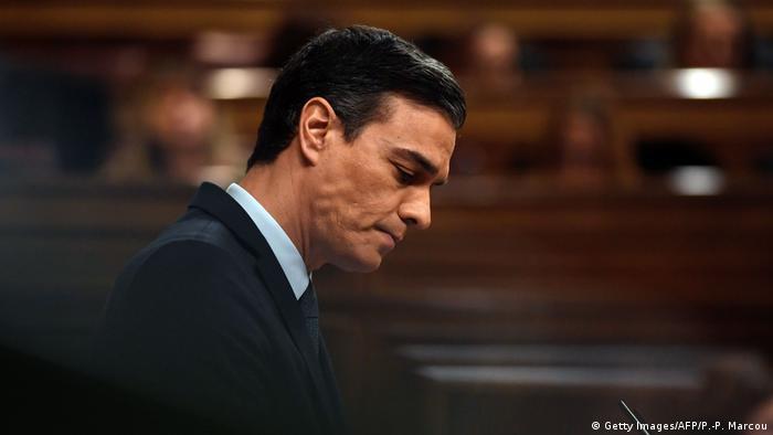 Spanien Madrid | Pedro Sanchez während Debatte im Parlament