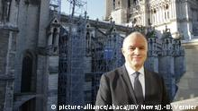 General Jean-Louis Georgelin, in charge of the Restoration of Notre Dame at the signing of the Restoration Agreement for the Notre Dame de Paris Cathedral between the Ile de France region and the Fondation Notre Dame for a grant of 10 million euros, Paris, France, on 4 December 2019. Photo jean-Bernard Vernier/JBV News/ABACAPRESS.COM |
