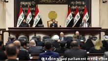 Members of the Iraqi parliament are seen at the parliament in Baghdad, Iraq January 5, 2020. Iraqi parliament media office/Handout via REUTERS ATTENTION EDITORS - THIS PICTURE WAS PROVIDED BY A THIRD PARTY.