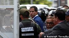 Venezuelan opposition leader Juan Guaido, who many nations have recognised as the country's rightful interim ruler, arrives for the swearing-in ceremony at the Congress in Caracas, Venezuela January 5, 2020. REUTERS/Fausto Torrealba NO RESALES. NO ARCHIVES.