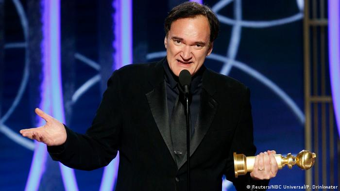 Quentin Tarantino gives his acceptance speech (Reuters/NBC Universal/P. Drinkwater)