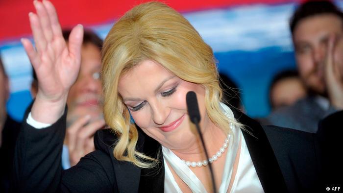 Kroatien Sozialdemokrat Milanovic gewinnt Präsidentenwahl | Kolinda Grabar Kitarovic (AFP)