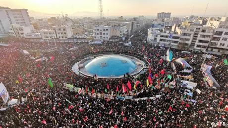 Crowds gather in Tehran (AFP)