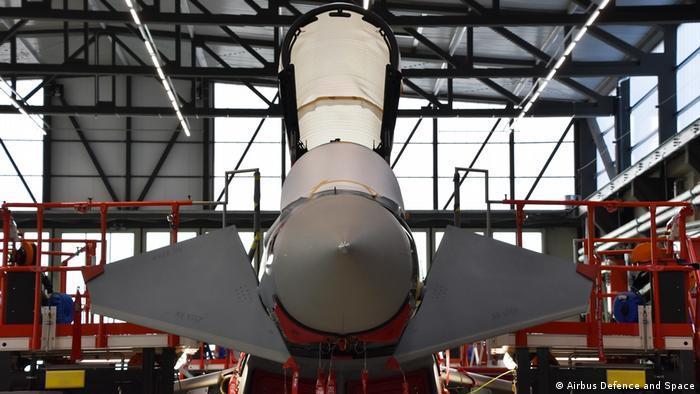 Tornado production at an Airbus facility
