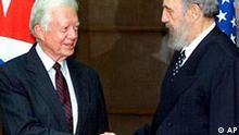 Jimmy Carter bei Fidel Castro