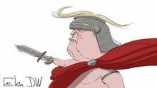 Karikatur Donald Trump ohne Worte