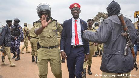 Uganda Kampala Festnahme Bobi Wine (Getty Images/AFP/Stringer)