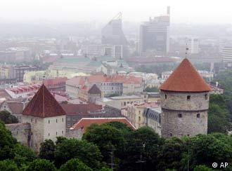 Tallín, la capital de Estonia pronto miembro de la Unión Europea.