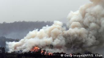 Δάση που καίγονται κοντά στην πόλη Έντεν