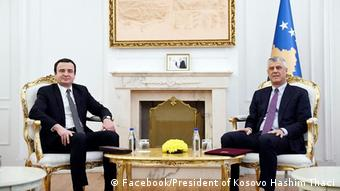 Kosovo Hashim Thaci mit Albin Kurti