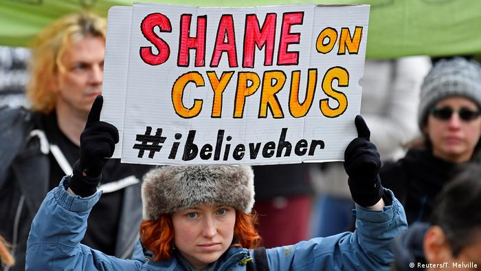 Protesters in London called for a boycott of Cyprus (Reuters/T. Melville)