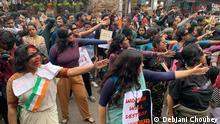 Indien Kalkutta Studenten Protest gegen Vergewaltigung