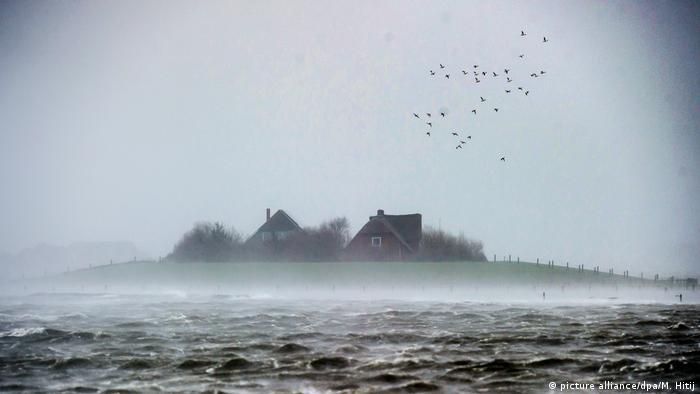 Hallig Nordsee Landunter Langeneß