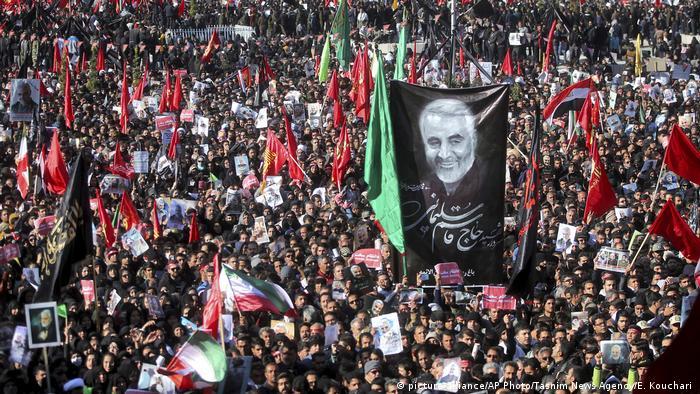 Iran Begräbnis von General Soleimani in Kerman