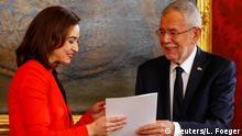 Österreich Vereidigung der neuen Regierung in Wien