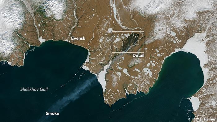 Пожежі у Сибіру в липні 2019 року з космосу