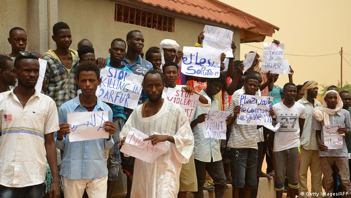 A protest by migrants in Agadez 2018