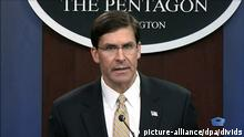 USA Washington | Mark Esper, Verteidigungsminister