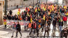 Frankreich Streik der CGT-Gewerkshaft