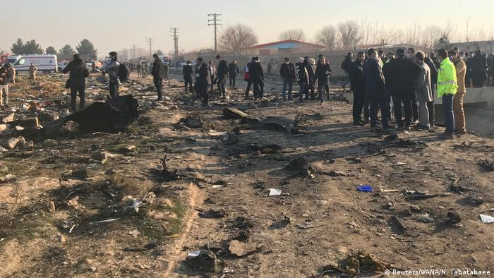 На месте крушения украинского Боинга под Тегераном
