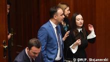 Titel: Nake Culev, der neue mazedonische Innenminister in der technischen Regierung Schlagworte: Culev, Nord-Mazedonien, Innenministerium Copyright: DW/Petr Stojanovski