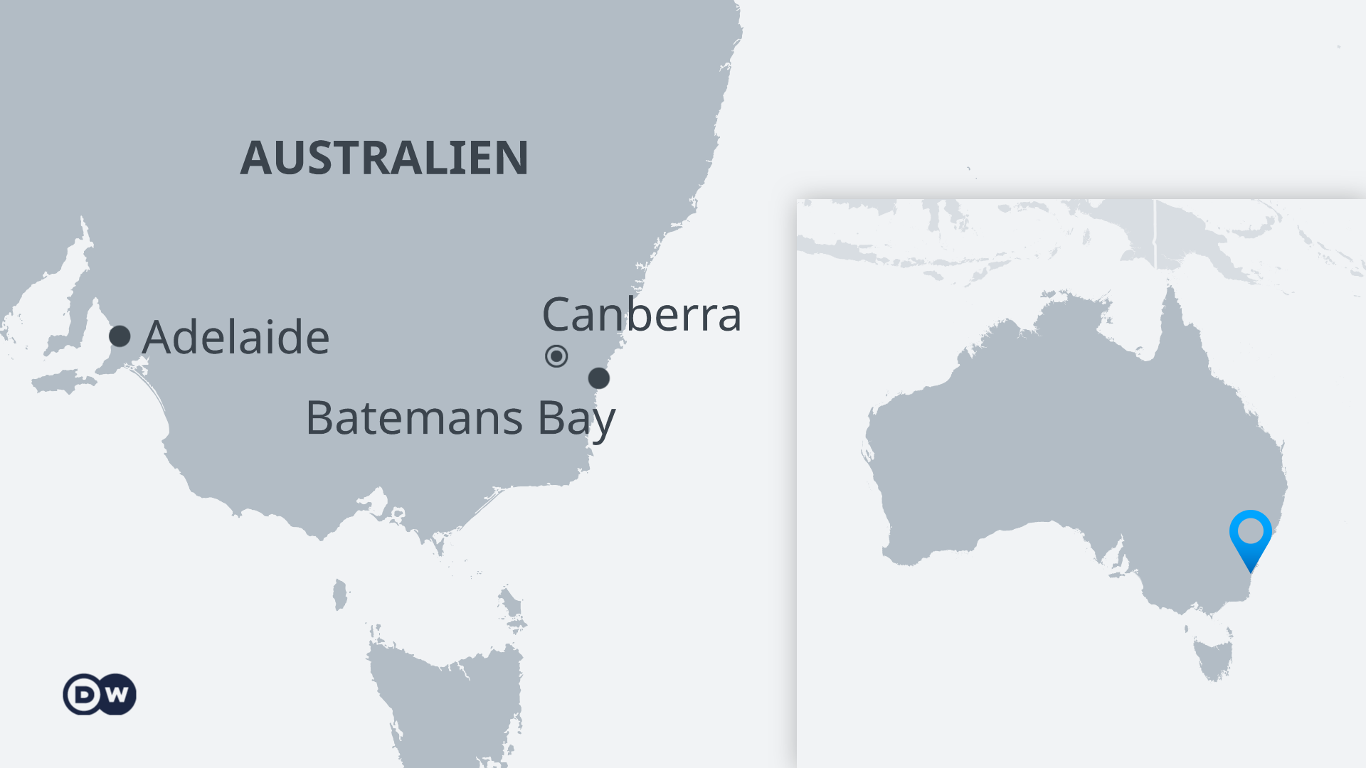Karte Australien Batemans Bay (DW Grafik)