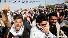 08.01.2020 University students attend a protest against the U.S and Iran interventions, in Basra, Iraq January 8, 2020. REUTERS/Essam al-Sudani