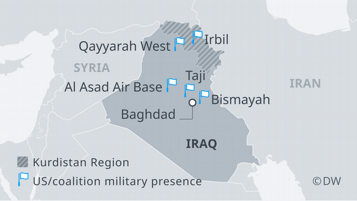 US-led coalition military bases in Iraq