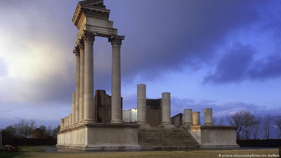 El templo de la ciudad de Xanten fue el segundo mayor edificio de la antigua ciudad de Colonia Ulpia Traiana.